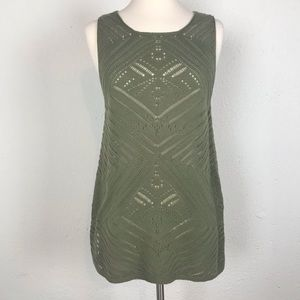 Lightweight Loose Knit Sleeveless Tunic by Rewind